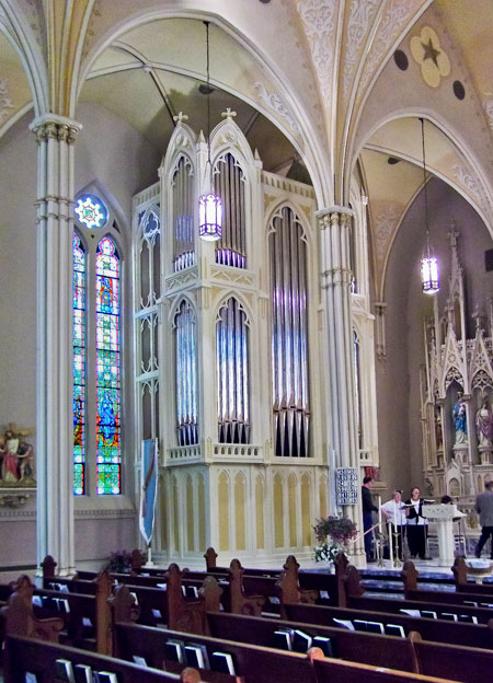 New A.E. Schlueter pipr organ at St Mary Catholic Church in Evansville, Indiana