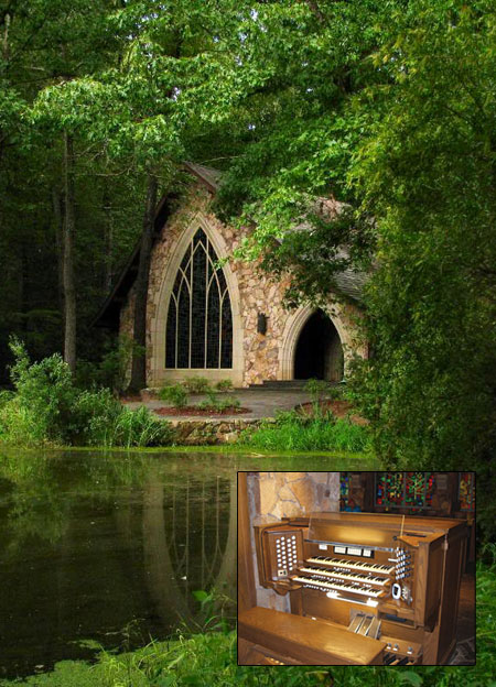 Callaway Gardens chapel and console
