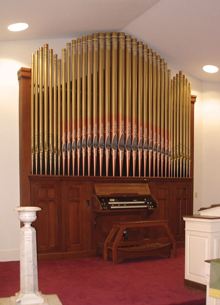 Trinity CME chapel tracker organ
